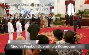 kata bijak pemimpin walikota bupati gubernur yang baik kosngosan