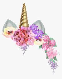 Unicorncrown Unicorn Unicornio Corona Flores Flowers Invitaciones De Unicornio Para Editar Hd Png Download Transparent Png Image Pngitem
