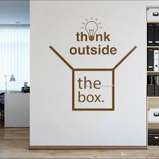 Think Outside The Box Office Decor Wall Decal Home Office Sticker Art Lettering Wall Decor Stickers Interior Wallpapers Wall Art Murals Decals Stickers Wall Art Quote Stickers From Joystickers 10 95 Dhgate Com