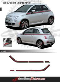 2007 2018 Fiat 500 Italian Gucci Red Green Flag Upper Door Accent Stri Auto Motor Stripes Decals Vinyl Graphics And 3m Striping Kits