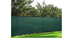 Amazon Com 50 Green Windscreen Fence Screen Mesh Privacy Fabric Premium Fence Cover Outdoor Decorative Fences Garden Outdoor