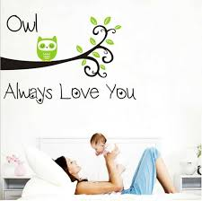Amazon Com Owl Always Love You Vinyl Wall Decal For Kids Nursery Room Baby