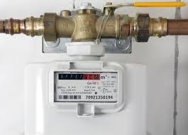 gas supply at the main shutoff valve
