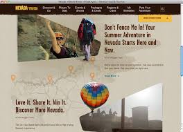 Travel Nevada Website Fonts In Use