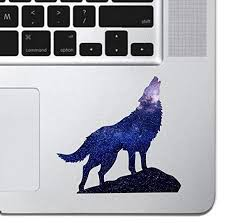 Amazon Com Cosmic Howling Wolf Laptop Sticker Keyboard Keypad Vinyl Macbook Decal Sticker Skin Track Pad Macbook Pro Air 13 15 17 Ipad Laptop Decal Ipad Sticker K9 Dog Wolf Silhouette Handmade