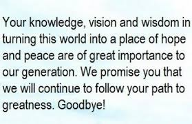 farewell message to a cousin who passed away