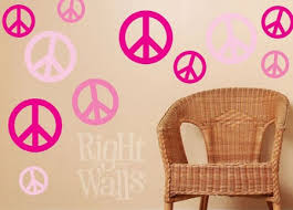 Peace Sign Shapes Wall Decals Vinyl Art Stickers