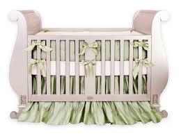 sage green silk crib bedding set