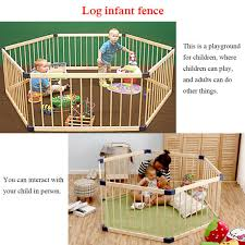 Good New Style 6 Panel Wooden Pet Kids Baby Playpen Toddler Fence Play Yard For Sale Online