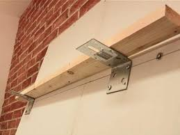 how to attach shelves to drywall you