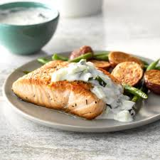 Pan-Seared Salmon with Dill Sauce ...