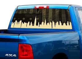Product Us Usa Military Flag City Rear Window Decal Sticker Pickup Truck Suv Car