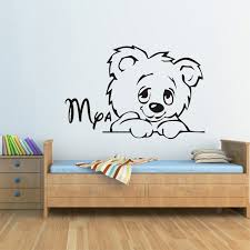 Custom Made Cartoon Teddy Bear Children Wall Decal Personalised Winnie The Pooh Bear Vinyl Wall Art Sticker Wall Art Stickers Wall Decalsvinyl Wall Aliexpress