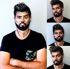 man with makeup and beard saubhaya makeup