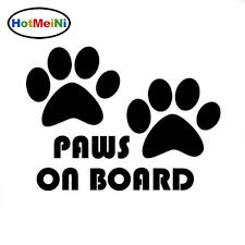 2020 Wholesale Car Styling Paws On Board Dog Puppy Foot Car Sticker Car Decals From Bulangying 14 08 Dhgate Com