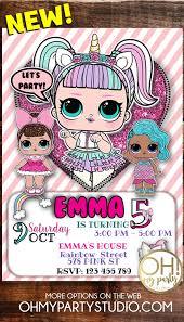 Lol Dolls Birthday Party Invitation Tarjetas De Cumpleanos