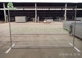 Electric Galvanized Temporary Fence Panels 6 9 5 Square Tube With Metal Base
