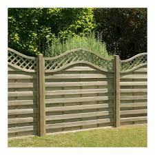 Forest Garden Pressure Treated Decorative Europa Prague Fence Panel 1 8m X 1 8m Wilko