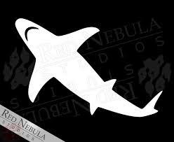 Shark Vinyl Decal Red Nebula Studios