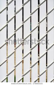 Chain Link Fence Privacy Slats Linked Stock Photo Edit Now 278045432