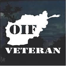 Oif Veteran Window Decal Sticker Custom Sticker Shop