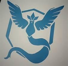 Set Of 2 Team Mystic Vinyl Decal Pokemon Go Articuno Blue Car Laptop Stickers Ebay