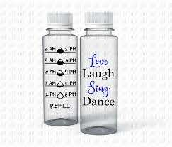 Love Laugh Sing Dance Water Tracker Sticker Decal Etsy
