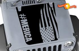 Product America Hood Decal Distressed Flag Decal Cj Yj Tj Jk Vinyl Sticker