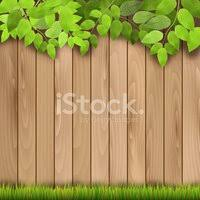 Wooden Fence Grass And Tree Branch Clipart Images
