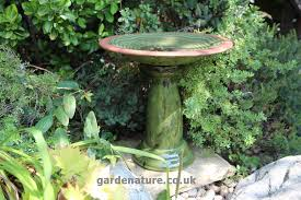 ornate bird bath