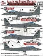 Afd48010 1 48 Afterburner Decals F 15e Strike Eagle Alaskan Strike Eagles 90fs Elmendorf Afb