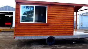 cedar wood bbq porch food trailer you