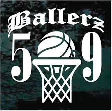 Custom Ballerz Basketball Car Window Decals Stickers Decal Junky