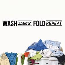 Wash Dry Fold Repeat Wall Sticker