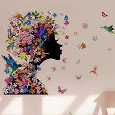 Colorful Flower Fairy Removable Vinyl Decal Wall Sticker Mural Art Bedroom Decor Adhesive Wall Stickers Affordable Wall Decals From Wanghongmei8888 5 10 Dhgate Com