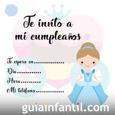 Invitacion Para Fiestas De Cumpleanos Con Imagenes De Princesas