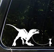 Amazon Com Pet Dinosaur Velociraptor W Girl Car Truck Atv Vinyl Decal Sticker Yydc 7 W X 3 5 H Girl Face Right White Arts Crafts Sewing