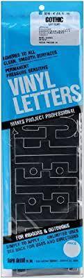 Amazon Com Duro Decal Permanent Adhesive Vinyl Letters 4 Gothic Black Home Kitchen In 2020 Vinyl Lettering Adhesive Vinyl Vinyl Paper