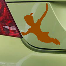 Hotmeini 15 X 12cm Flying Peter Pan Funny Car Sticker For Truck Window Bumper Auto Suv Door Laptop Kayak Vinyl Black Sliver Car Sticker Funny Car Stickersstickers For Trucks Aliexpress