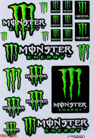 Green Monster Energy Claws Sticker Decal Supercross By Raciraci 6 50 Monster Energy Racing Stickers Monster Energy Drink