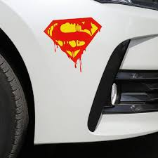 Hot Deal 3af7 Car Stickers Superman Blooding Cartoon Funny Dc Justice League Creative Decoration For Trunk Windshield Auto Tuning Styling D30 Cicig Co
