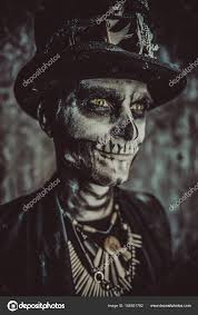 guy day of the dead makeup skull male