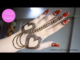 Heart Chain Mehndi Design