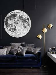 Full Moon Wall Decal Astronomy Wall Decal Bohemian Celestial Moon Sticker Space Decal Circle Wall Deca Wall Decals For Bedroom Bedroom Wall Moon Wall Decal