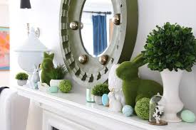 easter decorating with bright cheerful