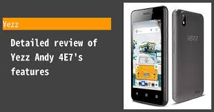 Yezz Andy 4E7 Photos, Specs, and ...