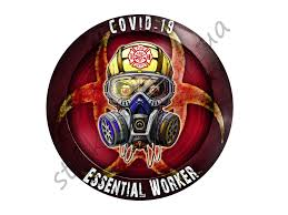 Firefighters Essential Worker Round Sticker Window Oval Decal Etsy In 2020 Cloud Stickers Vinyl Car Stickers Oracal Vinyl