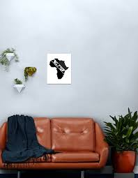 Africa Continent Art Metal Print By Acharra Redbubble