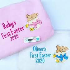 throw blanket keepsake white blue pink