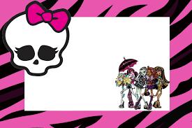 Monster High Invitaciones Para Imprimir Gratis Ideas Y